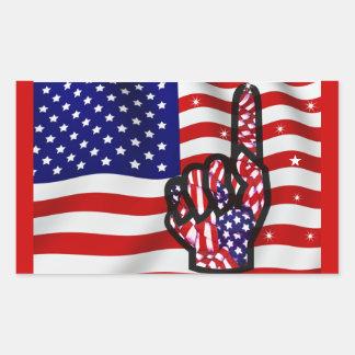 USA!_ RECTANGULAR STICKERS