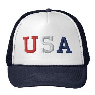 USA Stitch Style Graphic Snapback Trucker Hat