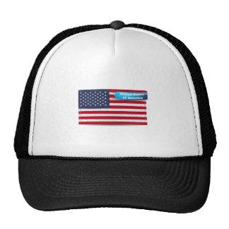USA Stitched Textile Flag Concept Cap
