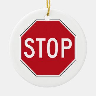 USA Stop Sign Christmas Ornament