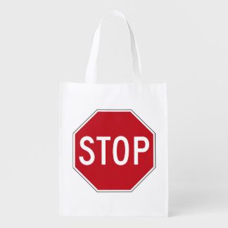 USA Stop Sign Reusable Grocery Bag
