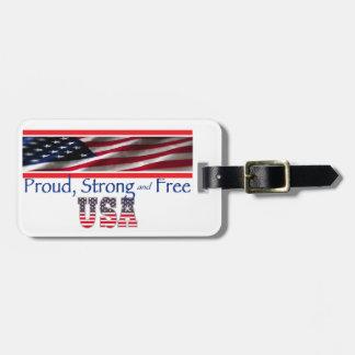 USA Strong Luggage Tags