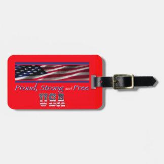 USA Strong Travel Bag Tags