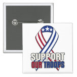 USA Support Our Troops 15 Cm Square Badge