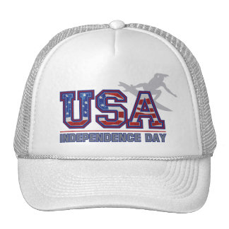 USA Surfer Independence Day Trucker Hats