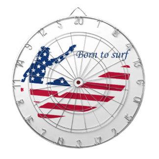 USA surfing American surfer Dartboard