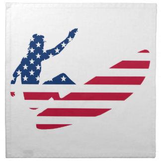 USA surfing American surfer Napkin