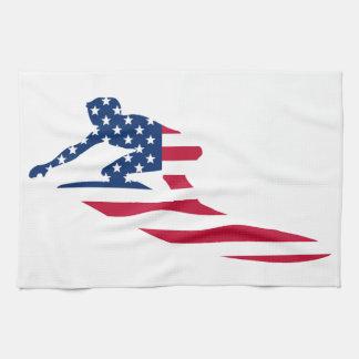 USA surfing American surfer Tea Towel
