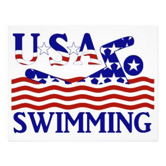 USA Swimming 21.5 Cm X 28 Cm Flyer