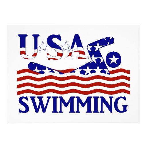 USA Swimming Custom Announcement