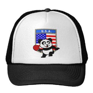 USA Table Tennis Panda Mesh Hat