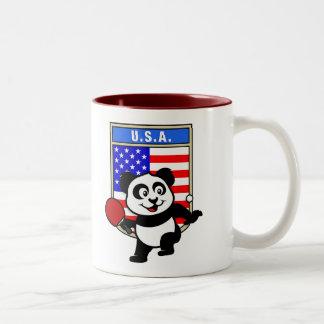 USA Table Tennis Panda Mugs