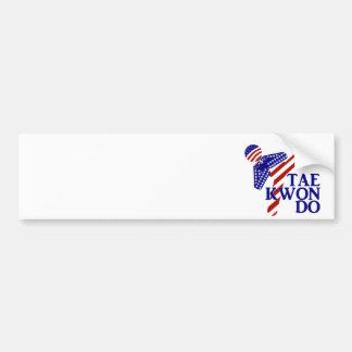 USA Taekwondo Kick (1) Bumper Sticker