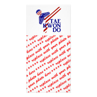 USA Taekwondo Kick (1) Photo Cards