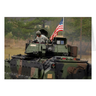 usa tank greeting card