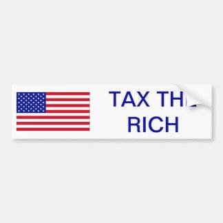 USA: Tax the Rich Bumper Sticker
