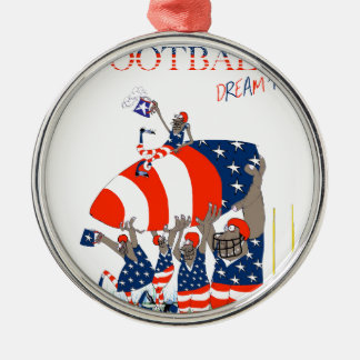 USA team work, tony fernandes Silver-Colored Round Decoration