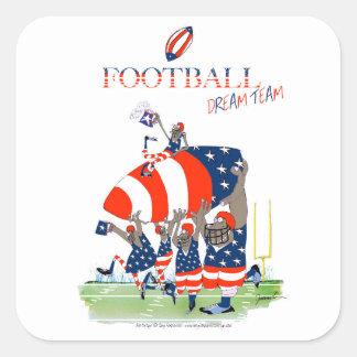 USA team work, tony fernandes Square Sticker