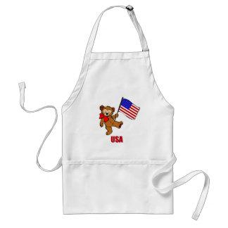 USA Teddy Bear Apron
