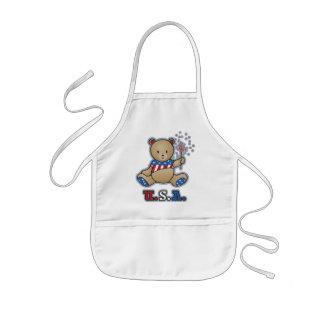 USA Teddy Bear Kid's apron