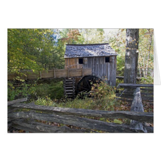 USA - Tennessee. Cable mill in Cades Cove area Card