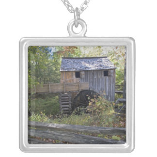 USA - Tennessee. Cable mill in Cades Cove area Silver Plated Necklace