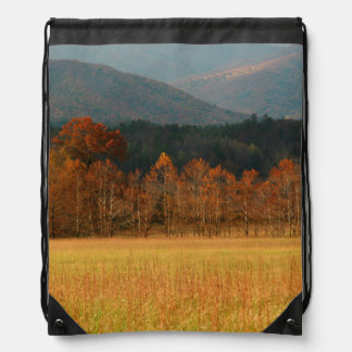USA, Tennessee. Cades Cove In Smoky Mountain Drawstring Bag