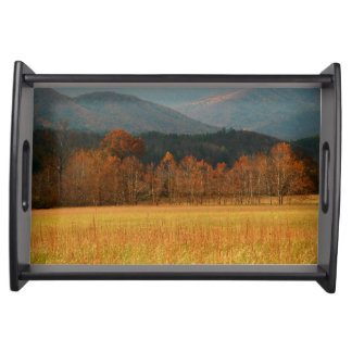 USA, Tennessee. Cades Cove In Smoky Mountain Serving Tray
