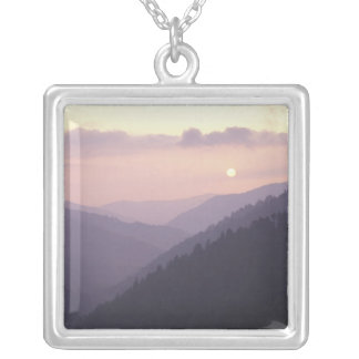 USA, Tennessee. Great Smokey Mountains 2 Silver Plated Necklace