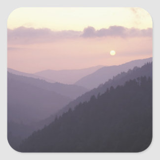USA, Tennessee. Great Smokey Mountains 2 Square Sticker