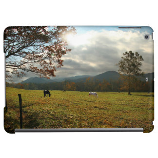 USA, Tennessee. Horses In Cades Cove Valley