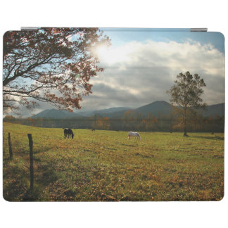 USA, Tennessee. Horses In Cades Cove Valley iPad Cover