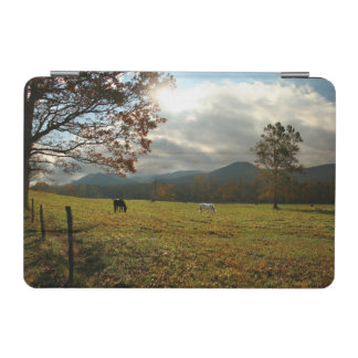 USA, Tennessee. Horses In Cades Cove Valley iPad Mini Cover