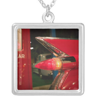 USA, Tennessee, Memphis, Elvis Presley Silver Plated Necklace