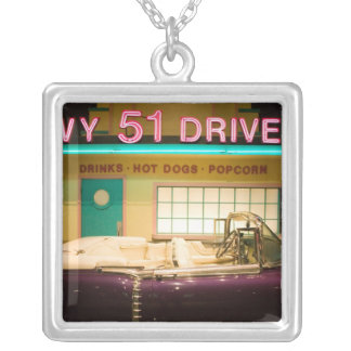USA, Tennessee, Memphis: Elvis Presley Silver Plated Necklace