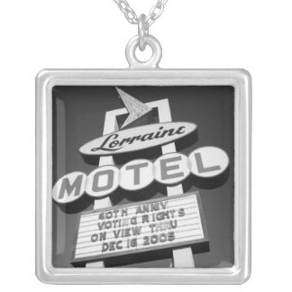 USA, Tennessee, Memphis,National Civil Rights Silver Plated Necklace