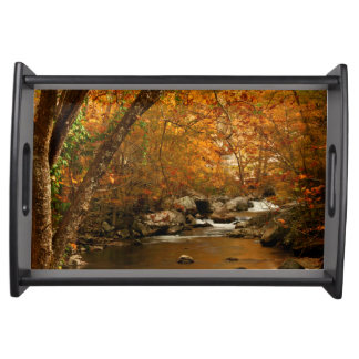 USA, Tennessee. Rushing Mountain Creek 3 Serving Tray