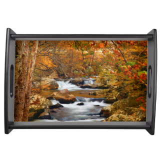 USA, Tennessee. Rushing Mountain Creek Serving Tray