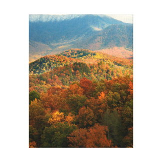 USA, Tennessee. View Of Snowy Mount Leconte Canvas Print