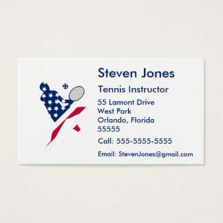 USA Tennis American player Business Card