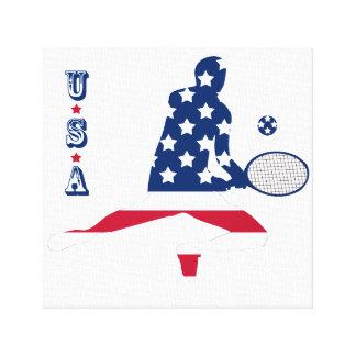 USA Tennis American player Canvas Print