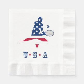 USA Tennis American player Disposable Napkins