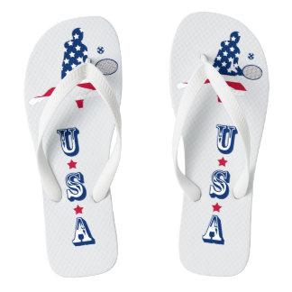 USA Tennis American player Flip Flops