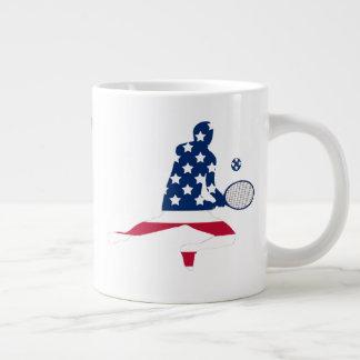 USA Tennis American player Large Coffee Mug
