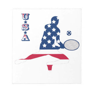 USA Tennis American player Notepad