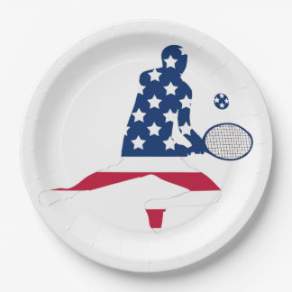 USA Tennis American player Paper Plate