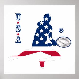 USA Tennis American player Poster