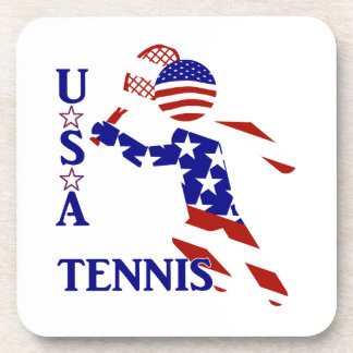 USA Tennis Player - Men s Tennis Drink Coasters