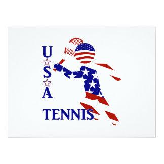 USA Tennis Player - Men's Tennis 17 Cm X 22 Cm Invitation Card