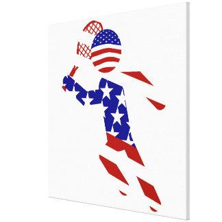 USA Tennis Player - Mens Tennis Stretched Canvas Print